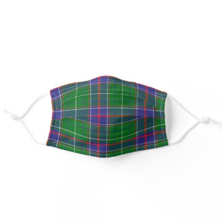 Tennessee State Clan Tartan Plaid Pattern Adult Cloth Face Mask
