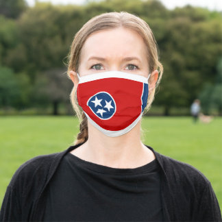 Tennessee State Flag Adult Cloth Face Mask