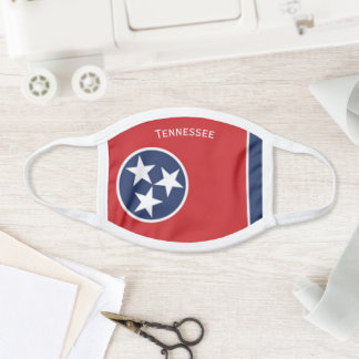 Tennessee State Flag Design Face Mask