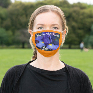 Tennessee State Flower Iris Nature Adult Cloth Face Mask