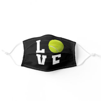 Tennis Fan Customizable Background Color Adult Cloth Face Mask
