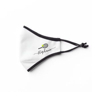 Tennis Racket Ball Personalized Sporty Premium Face Mask