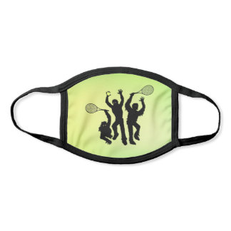 Tennis Zombies on Green Background Face Mask