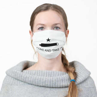 Texas Flag Come and Take It Adult Cloth Face Mask