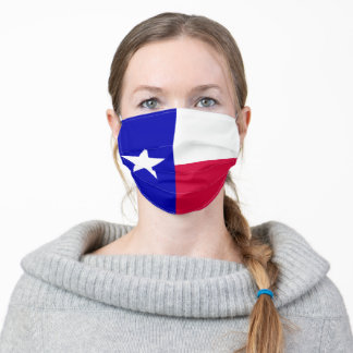 Texas Flag of Lone Star State Adult Cloth Face Mask