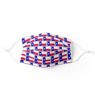 Texas flag pattern adult cloth face mask