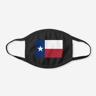 Texas State Flag Black Cotton Face Mask