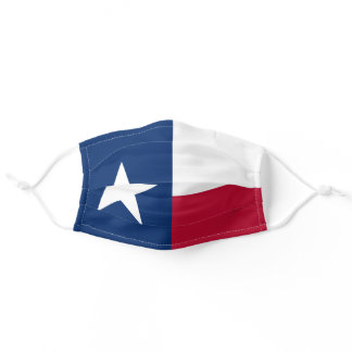 Texas State Flag TX, USA American Patriotic Adult Cloth Face Mask