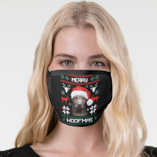Thai Ridgeback Merry Woofmas Face Mask
