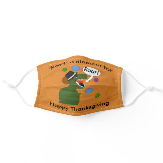 Thanksgiving Dinosaur Funny Personalize Adult Cloth Face Mask