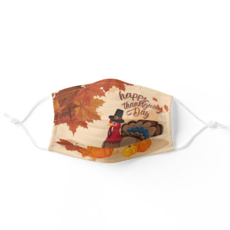 Thanksgiving Turkey Adult Cloth Face Mask