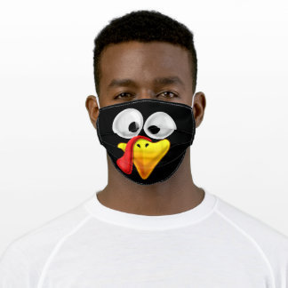 Thanksgiving Turkey Face Matching Family Adult Cloth Face Mask