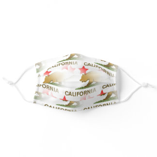The Bear Flag ☆ State of California Pattern Adult Cloth Face Mask