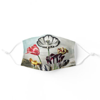The Blue Egyptian Water Lily, Temple of Floral Adult Cloth Face Mask