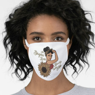The Dogma Lives Within Me | Rosie the Riveter Face Mask