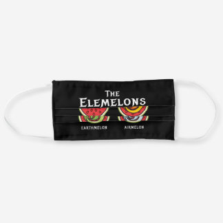 The Elemelons Watermelon Fire Earth Adult Cloth Face Mask