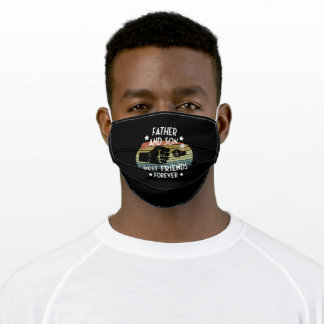 The Father And His Son Best Friends Forever Adult Cloth Face Mask
