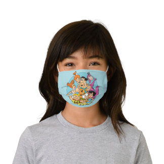 The Flintstones and Rubbles Family Graphic Kids' Cloth Face Mask