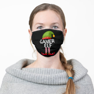 The gamer Elf Family Matching Christmas Funny Adult Cloth Face Mask