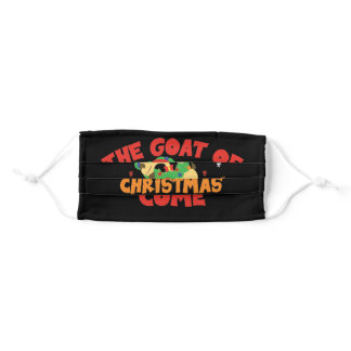 The Goat Of Christmas Yet To Come  Pun Baby Goat Adult Cloth Face Mask