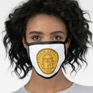 The great seal of Georgia Face Mask