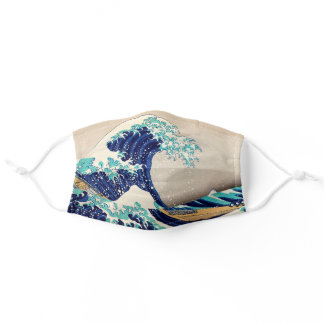 The Great Wave off Kanagawa Vintage Japanese Art Adult Cloth Face Mask