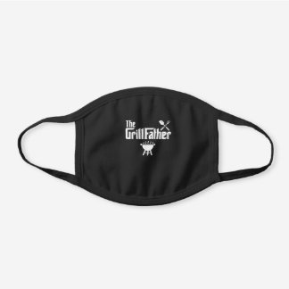 The Grillfather Funny Grill Smoker Bbq Chef Dad Black Cotton Face Mask