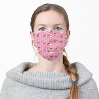 The Grinch & Cindy-Lou Pink Heart Pattern Adult Cloth Face Mask