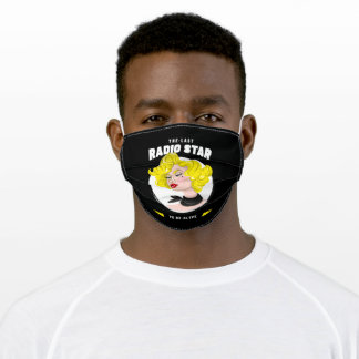 The Last Radio Star to be Alive - Retro Adult Cloth Face Mask