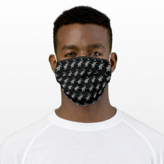 The Lion Rampant (Silver) Adult Cloth Face Mask