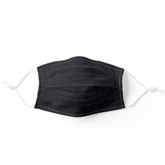 The Look of Black Denim Men's Fabric Adult Cloth Face Mask