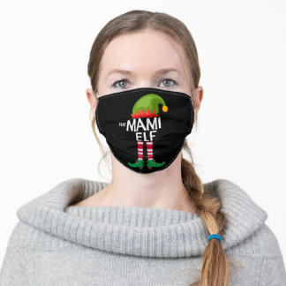 The mami Elf Family Matching Christmas Funny Adult Cloth Face Mask
