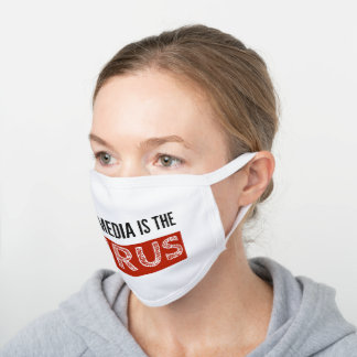 The media is the virus white cotton face mask