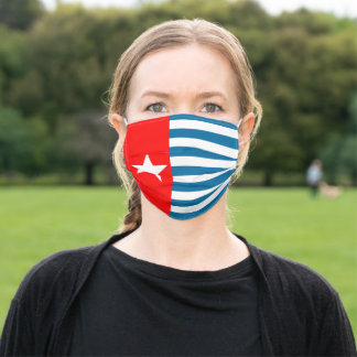 The morning star flag of West Papua. Adult Cloth Face Mask