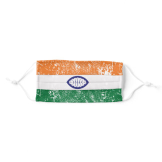 The National Flag of India Adult Cloth Face Mask