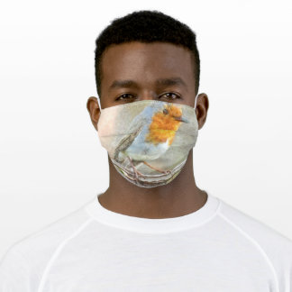 The Robin Is A Gabriel Watercolor Adult Cloth Face Mask