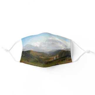 The Rocky Mountains Bierstadt Landscape Painting Adult Cloth Face Mask
