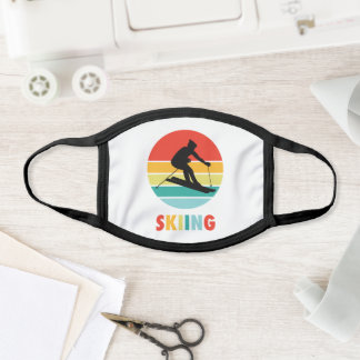 The Skiing Sunset Outdoor Sport Face Mask