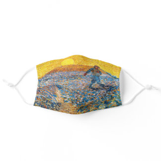 The Sower, Van Gogh Adult Cloth Face Mask
