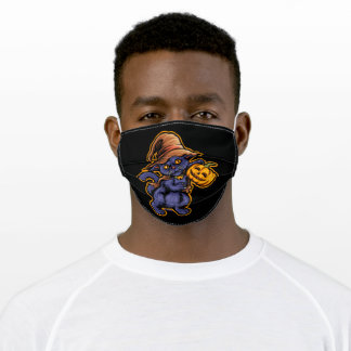 The witch cat adult cloth face mask