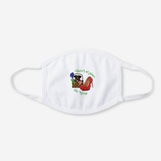 There's No Place Like Home Toto 1 White Cotton Face Mask