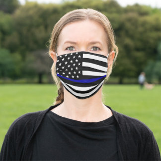 Thin Blue Line Adult Cloth Face Mask