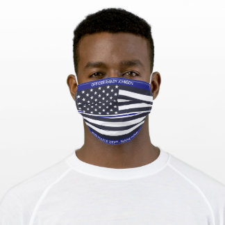 Thin Blue Line Products, Law Enforcement Adult Cloth Face Mask