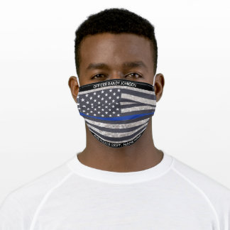 Thin Blue Line Products, Police Officer Adult Cloth Face Mask