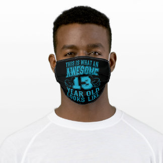 THIS IS WHAT AN AWESOME 13 YEAR OLD 13th Birthday Adult Cloth Face Mask
