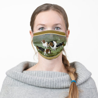 Three Bassett Hounds Adult Cloth Face Mask