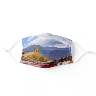 Tibet - Ganden Buddhist Monastery Adult Cloth Face Mask