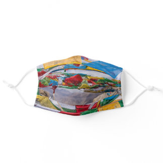 Tibetan landscape with prayer flags - Himalaya Adult Cloth Face Mask