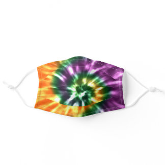 Tie Dye Autumn Colors for Fall Adult Cloth Face Mask