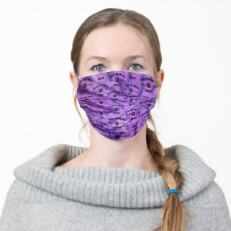 Tie Dye DEEP PURPLE Keep the Space, Baby! Adult Cloth Face Mask